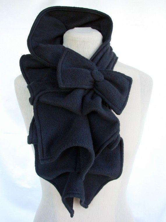 Ruffled Bow Scarf: Bow Scarf, Style, Color, Bows, Fleece Ruffled, Scarfs, Ruffled Bow, Made To Order Fleece