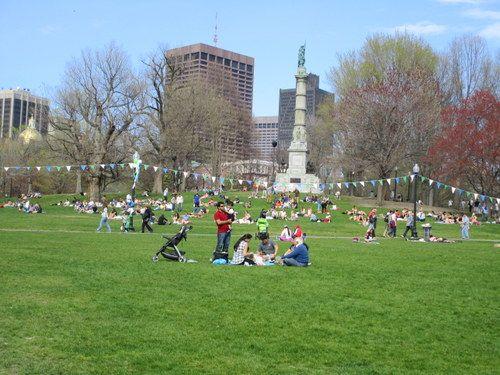のどかなボストンコモンでゆったりした時間を過ごすのも◎ボストン 旅行・観光の見所。