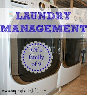 Great ideas for large family laundry management. Already use some of these