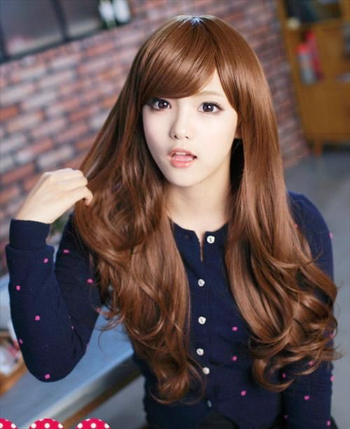 Japanese Girls With Long Hair Wigs Curly Hair Styles