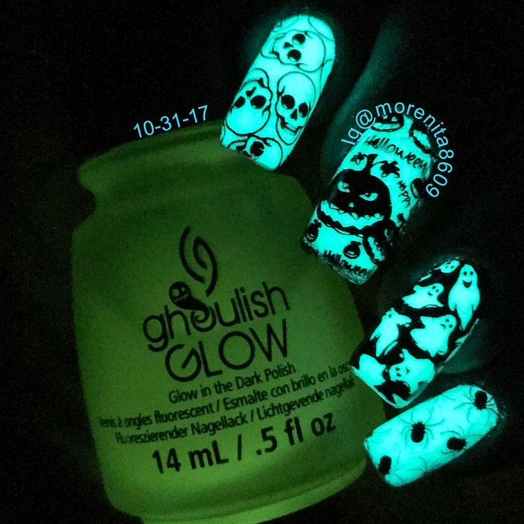 Happy Halloween 2017   #nails #sexynails #nailstamping #nailart #spookynails #glowinthedarknails #halloweennails