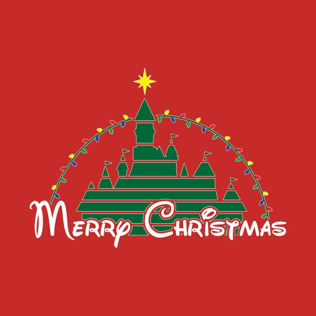Awesome 'Merry+Christmas+at+the+happiest+place+on+earth' design on TeePublic!