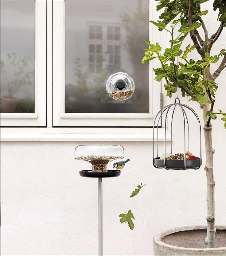 Window feeder, bird feeder table and bird feeding cage by Eva Solo