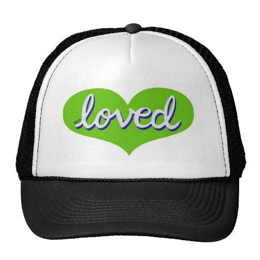 Trucker hat Green heart design Available in a range of designs and colours