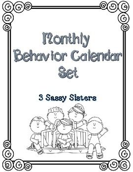 Monthly Behavior Calendar Set