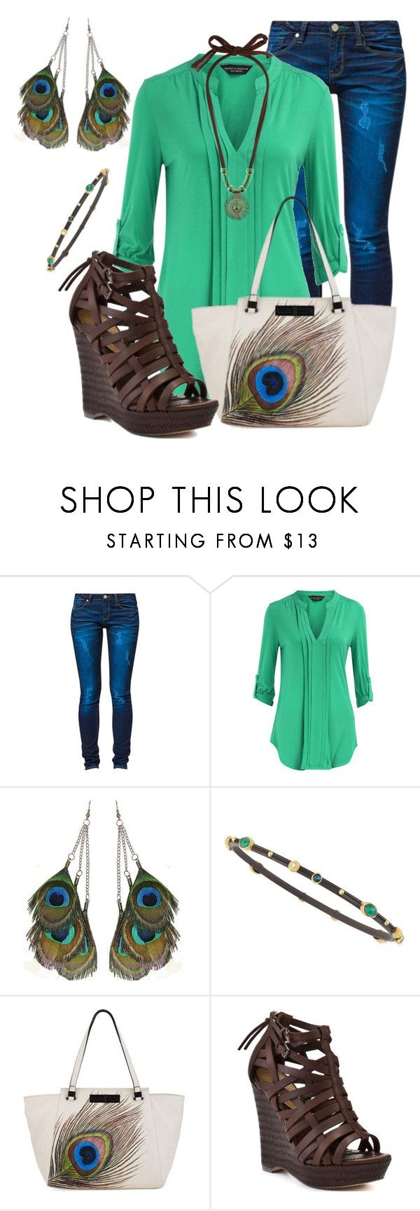 """""""Peacock"""" by jacci0528 ❤ liked on Polyvore featuring One Green Elephant, Dorothy Perkins, Armenta, Elliott Lucca, True Religion and Wallis"""