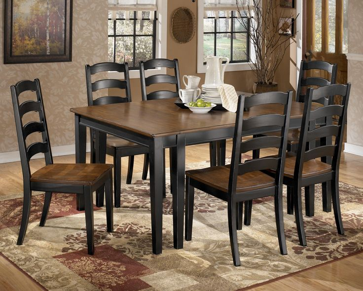 owingsville 7 piece dining room extension table set by