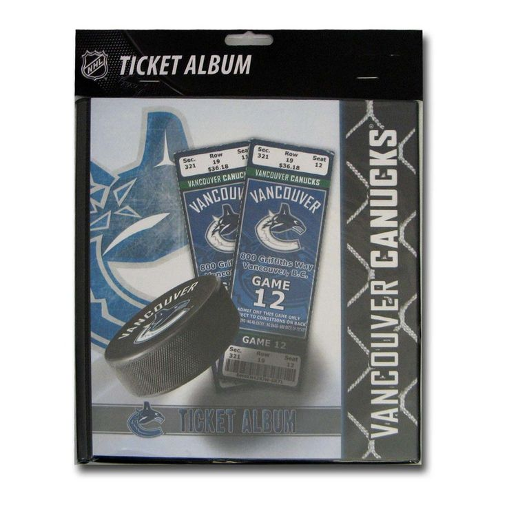 Ticket Album NHL - Vancouver Canucks (Holds 96 Tickets)