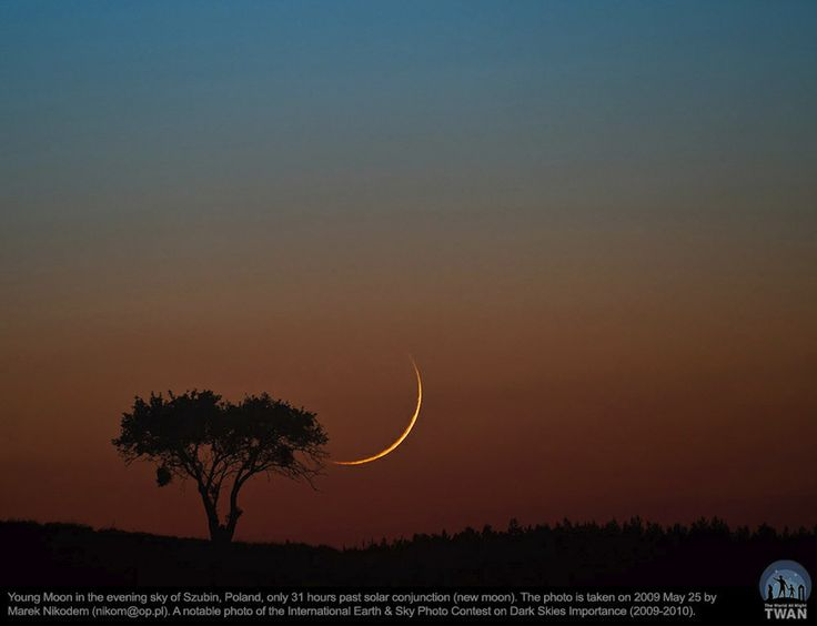 """Young Moon in the Szubin Sky"" by Marek Nikodem (TWAN) marwanemeftah"