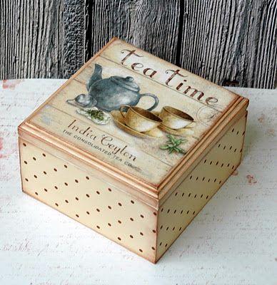Tea box. Decoupage