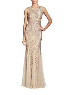 Aidan Mattox - Sequined Godet Gown I LOVE THIS!