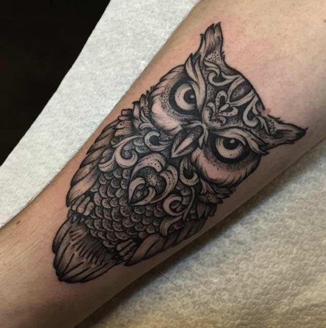 Dotwork Owl Tattoo