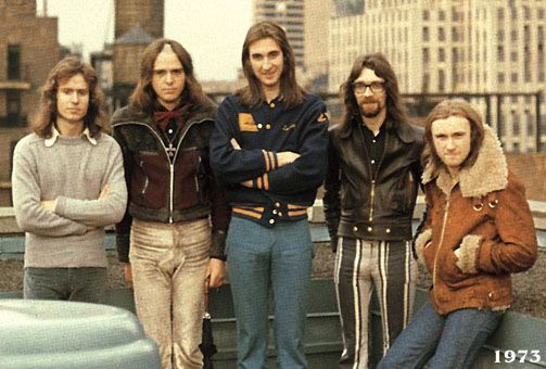 "Genesis in the mid 1970's, a trip to NYC would inspire their famous double concept album, ""The Lamb Lies Down On Broadway"". The album would be Peter Gabriel's last one with the band."