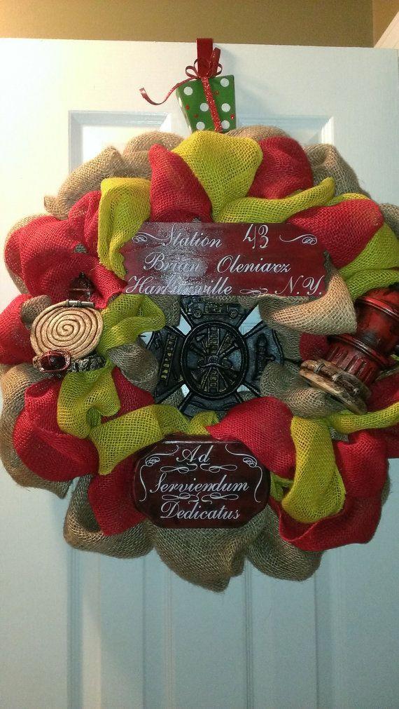 Best wreath s fire service ems images on pinterest