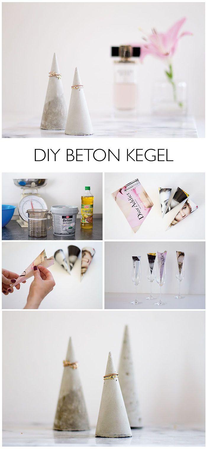 DIY Beton Kegel für Schmuck - http://lindaloves.de