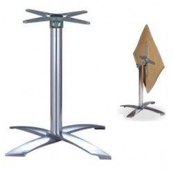 Base abatible, 4 brazos, aluminio fundido, altura 73 cms.