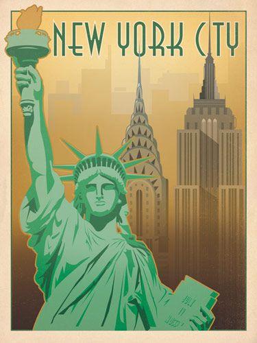 affiche poster vintage usa ville 33 Affiches touristiques vintages des USA design bonus