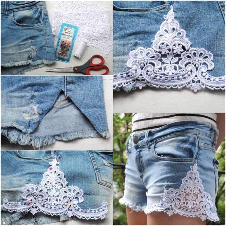 Jeans Hotpants gestalten – Tipps für 25 DIY Projekten - Migraine Headache