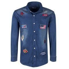 """Ανδρικό Τζιν Πουκάμισο """"Chieftain"""" Tmk Jeans - brands4all"""