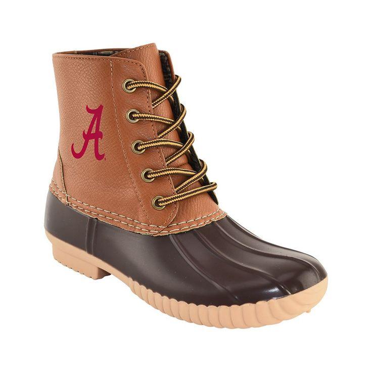 Women's Primus Alabama Crimson Tide Duck Boots, Size: 10, Brown