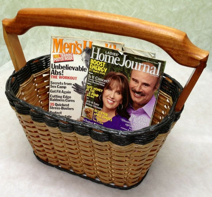 Magazine Basket--This basket will fit snug against a chair or couch, allowing you to get what you need at a arms reach. It can also hold your crochet or knitting supplies. As well as, hold afghans and blankets.