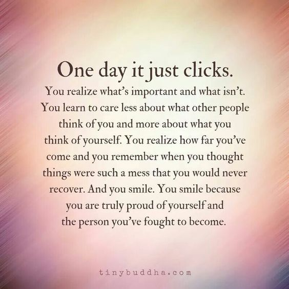 Has your, 'one day' come yet?