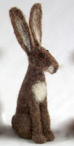 Coriandr / jennymade / Needle Felt hare Kit  Bought this kit recently - hope mine looks as cute as this one!