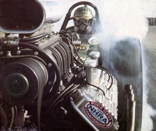 Top Fuel Front Engined Slingshot Rail.