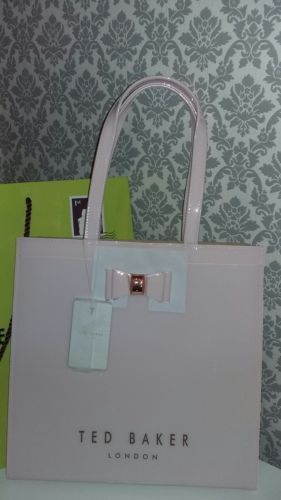 e04e7c8021049 Ted Baker Bethcon Bow Detail Dusky Pink Large Icon Bag NEW TAGS ...