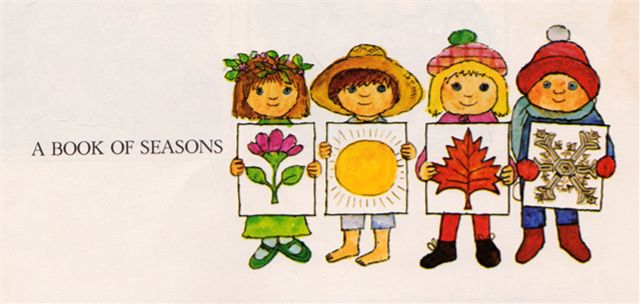 my vintage book collection (in blog form).: A Book of Seasons - illustrated by Alice and Martin Provensen