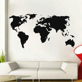 World wall decal