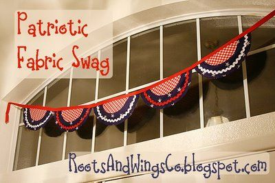 Patriotic Fabric SwagJuly Patriots, Patriots Swag, Patriots Fabrics, Memories Day4Th, July Crafts, Patriots Celebrities, 4Th Of July, Fabrics Banners, Fabrics Swag