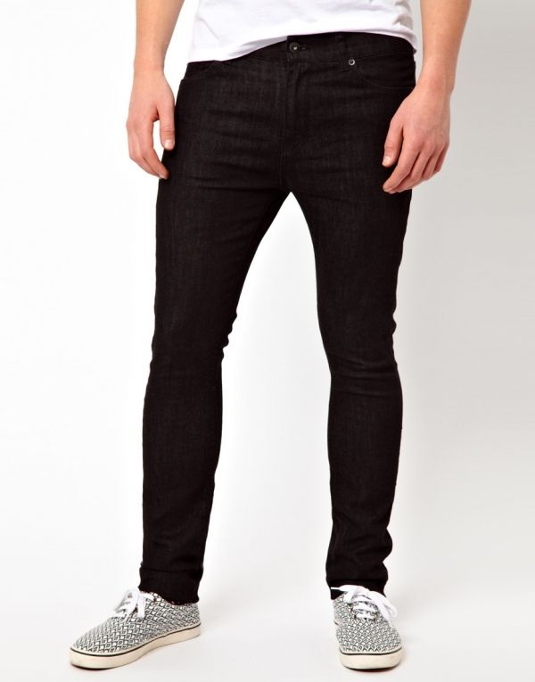 Black Super Skinny Jeans from Picsity.com | Just for MEN ...