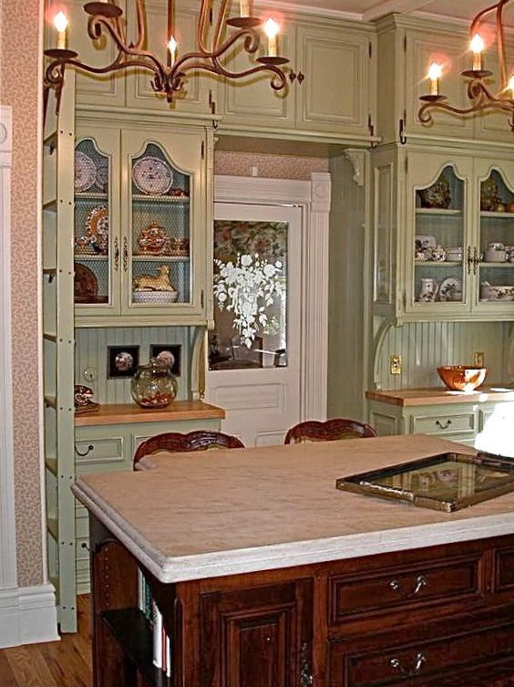 kitchen cabinet designs open cabinets via: sue murphy -the two walk in pantries on ...