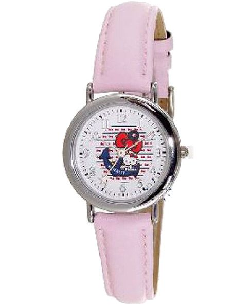 HELLO KITTY Kids Pink Leather Strap HK2220-115