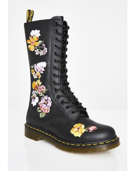 5cfe6d304e7e 1914 Vonda 2 Combat Boots  dollskill  docs  drmartens  alternative  boots   high  embroidery