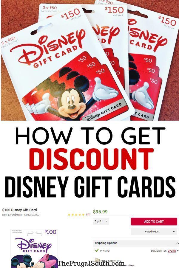 Discount Disney Gift Cards The Best Deals Where To Get Them Discount Disney Gift Cards Disney Gift Card Disney Gift