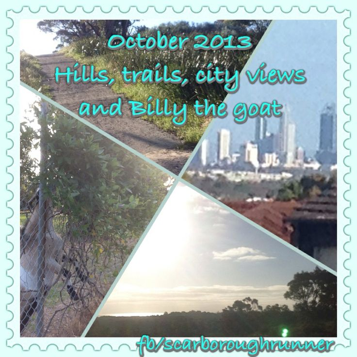 October 2013 Started hill repeats, continued trail running and enjoying the city views.