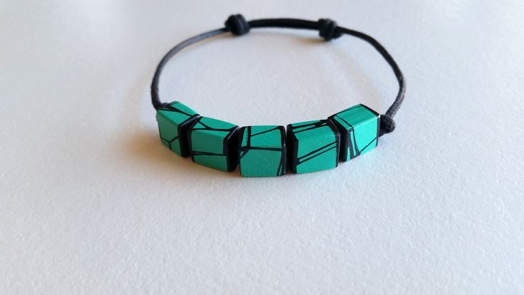 Expression 1 - Green Turquoise - Bracelet