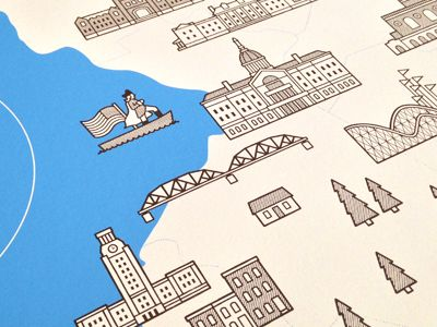 """""""The Great Garden State"""" Screenprinted Map by Alex Flannery"""
