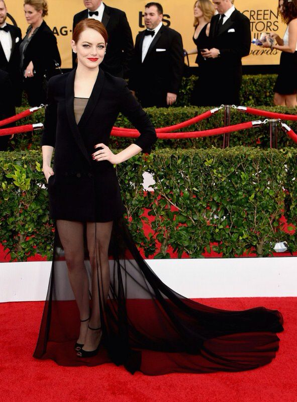 The 21st Annual Screen Actors Guild Awards Best Dressed Emma Stone  More on www.Boassy.com