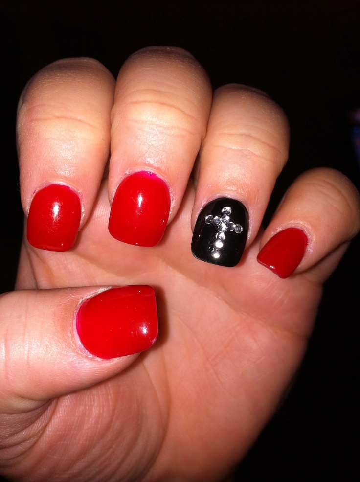 red and black nails red and black nails pinterest