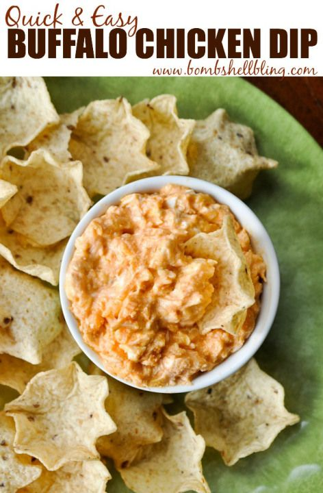 I can't believe how quick it was to make this buffalo chicken dip!  A MAJOR crowd pleaser!