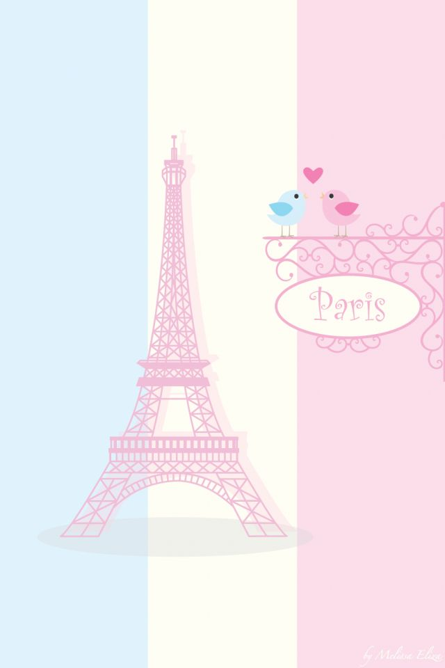 I Love Paris Wallpaper cartoon : cute paris wallpaper Girly wallpapers Pinterest Pastel, Romantic paris and Paris wallpaper