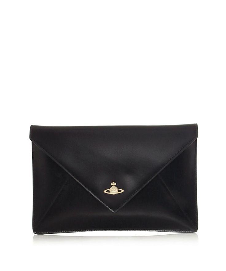 Vivienne westwood Envelope Orb Clutch Bag in Black