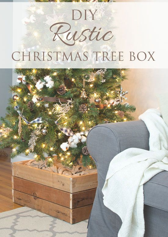 DIY Rustic Christmas Tree Stand Box - The Golden Sycamore