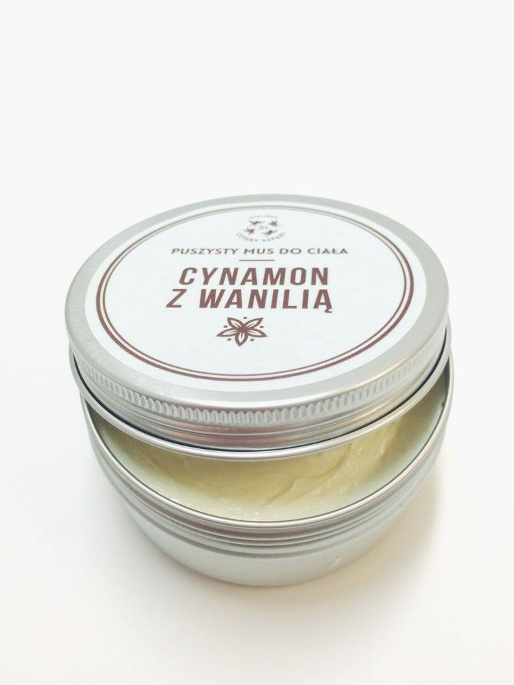 Puszysty mus do ciała (masło do ciała) - Cynamon i Wanilia 150ml w mydlarni Cztery Szpaki. W ofercie bogaty wybór naturalnych kosmetyków z wysokiej jakoś...