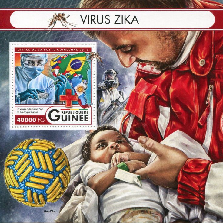 Guinea 2016 Francobolli Medicina - Virus Zika - Medicine Stamps