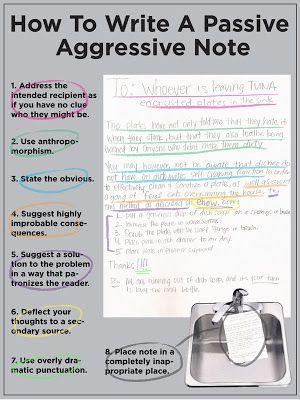 Cafe Gradiva: Cum să scrii un bilet pasiv-agresiv