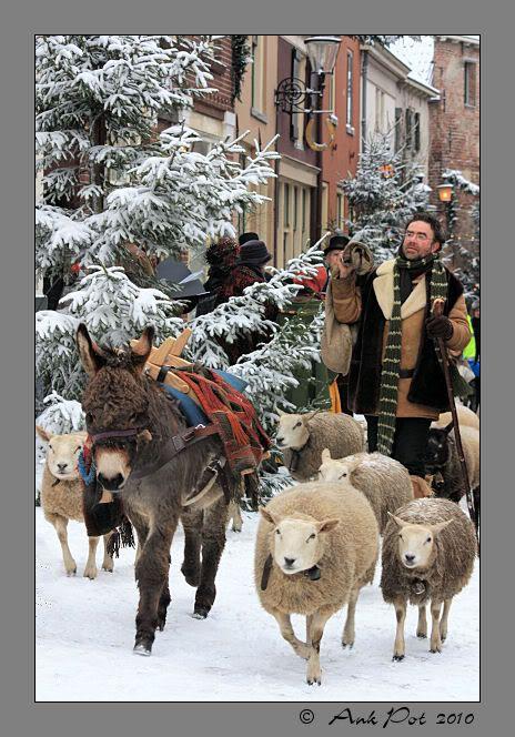 Shepherd at Dickens festival , Deventer, the Netherlands